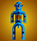 Vector avant-garde illustration of mythic person, pagan symbol. Royalty Free Stock Images