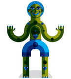 Vector avant-garde illustration of mythic person, pagan symbol. Royalty Free Stock Photography