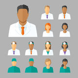Vector avatars of doctors for medical forum Royalty Free Stock Images