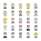 Vector avatars of illustration Royalty Free Stock Images