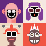 Vector avatars Royalty Free Stock Images