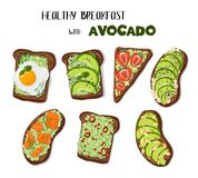 Vector Avocado Toast royalty free illustration