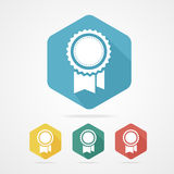 Vector Award Icon flat style with long shadow. Stock Image