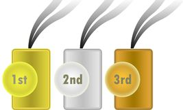 Vector awards. These are three  awards Stock Images