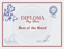 Vector Awards of dog show. Royalty Free Stock Photo