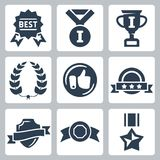 Vector awards icons set Stock Image