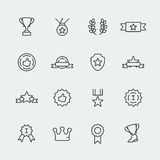 Vector awards icons set Royalty Free Stock Image