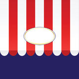 Vector Awning. Vector illustration of an awning Stock Images
