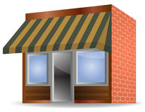 Vector awning. Vector illustration of Store Front Awning on white background Stock Photo