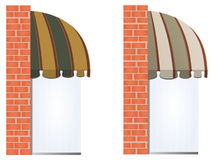 Vector awnings Stock Photos