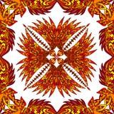 Vector aztec geometric seamless pattern. Stock Image