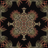 Vector aztec geometric seamless pattern. Royalty Free Stock Photos