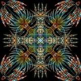 Vector aztec geometric seamless pattern. Stock Photos
