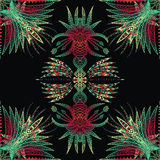 Vector aztec geometric seamless pattern. Stock Images