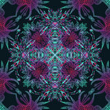 Vector aztec geometric seamless pattern. Background with a Latin American ornament Stock Photography