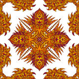 Vector aztec geometric seamless pattern. Background with a Latin American ornament Stock Images