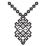 Vector aztec necklace Embroidery for fashion women. Pixel tribal pattern print or web design. jewelry, Stock Image