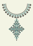 Vector aztec necklace Embroidery for fashion women. Pixel tribal pattern for print or web design. jewelry, necklace Royalty Free Stock Photos