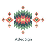 Vector aztec sign on white background. Isolated ornament object Royalty Free Stock Photo