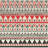 Vector Aztec Tribal Seamless Pattern on Crumpled stock illustration