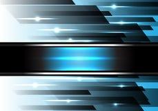 Vector azul abstracto de la tecnología de la velocidad de la luz del poder Fotografía de archivo libre de regalías