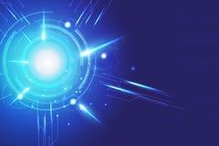 Vector azul de la tecnología del extracto del fondo Fotos de archivo