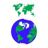 Vector azul de la tierra 3d Fotografía de archivo
