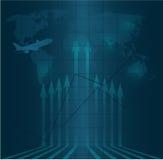 Vector azul del diseño del fondo del negocio Imagen de archivo