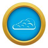 Vector azul del icono de la nube de cúmulo aislado ilustración del vector