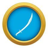 Vector azul del icono del machete aislado stock de ilustración