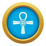 Vector azul del icono del símbolo de Egipto Ankh aislado ilustración del vector