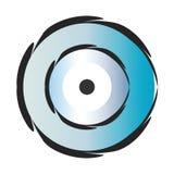Vector azul del mal de ojo fotografía de archivo