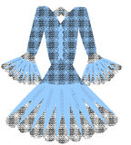 Vector azul del vestido Imagen de archivo libre de regalías