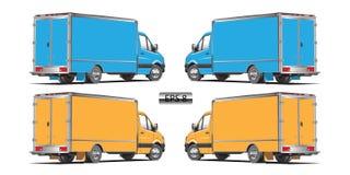 Vector azul y amarillo del camión Foto de archivo
