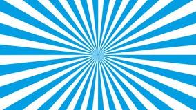 Vector azul y blanco eps10 del modelo del resplandor solar de Sun de los rayos Fondo azul del resplandor solar stock de ilustración