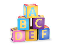 Vector A,B,C cubes pyramide Stock Photo