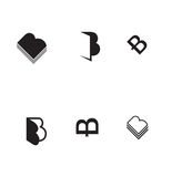 Vector B letter icon set book icon Royalty Free Stock Photography