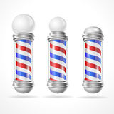 Vector baber shop pole set Royalty Free Stock Images