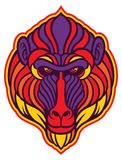 Baboon Mandrill Monkey. Vector of baboon Mandrill Monkey head in colorful style Royalty Free Stock Photo