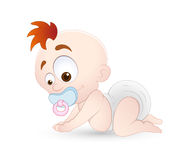 Vector Baby. Creative Design Art of Vector Baby Playing Illustration Royalty Free Stock Photography