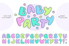 Vector baby alphabet Stock Images