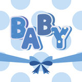 Vector baby banner blue Royalty Free Stock Image