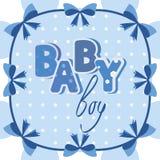Vector baby banner blue Stock Photo