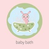 Vector baby bath Royalty Free Stock Photo