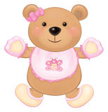 Vector  baby bear girl. Royalty Free Stock Photos