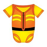 Vector Baby Bodysuit in Construction Style Stock Photos