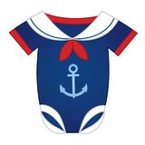 Vector Baby Bodysuit in Nautical Style Royalty Free Stock Photography