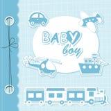 Vector baby boy scrapbook stock illustration