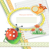 Vector baby card Stock Image