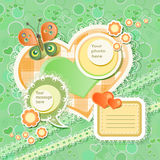 Vector baby card Stock Photography